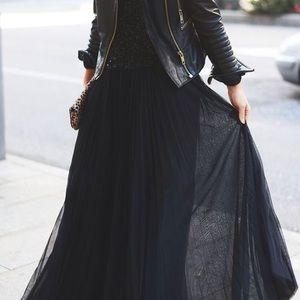 Lauren Conrad Black Maxi Tulle Skirt